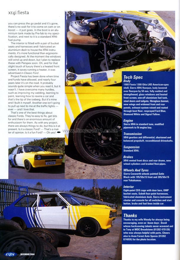 Ford Fiesta Mk1 Magazine Articles Uk Classic Ford Feature Rwd