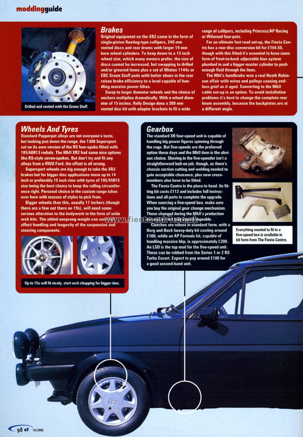 Classic Ford Technical Modifying Fiesta Xr
