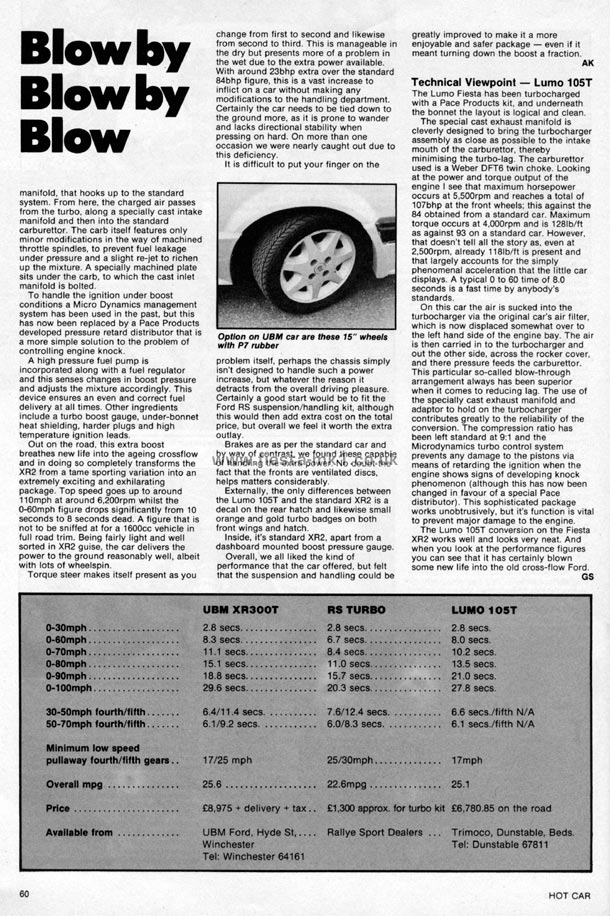 Hot Car - Road Test: Fiesta XR2 Lumo 105T - Page 6
