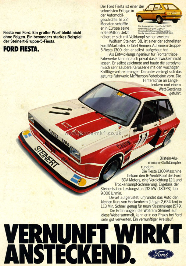 Ford Fiesta Mk1 187 Press Releases Adverts 187 Adverts De