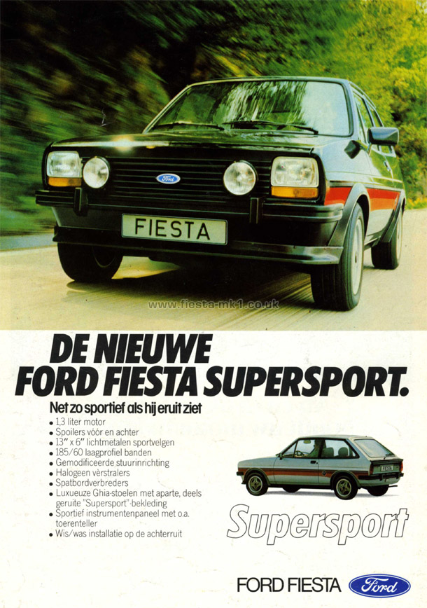 Ford Fiesta Mk1 187 Press Releases Adverts 187 Adverts Nl